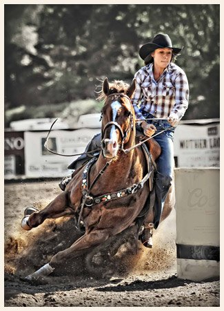 Barrel Racing Mother Lode Round-Up Rodeo and Parade Sonora California